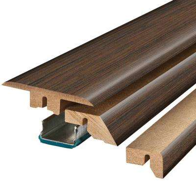 Auburn Scraped Oak 3/4 in. Thick x 2-1/8 in. Wide x 78-3/4 in. Length Laminate 4-in-1 Molding