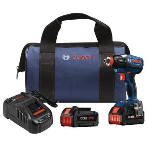 Bosch 18-Volt Lithium-Ion Cordless EC Brushless 1/4 inch and 1/2 inch Impact Driver Kit with 2 Core 18-Volt... by