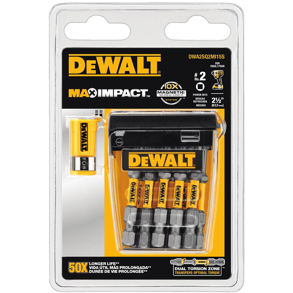 MAX IMPACT 2-1/2 in. Square Steel #2 Screwdriving Bit (15-Piece)