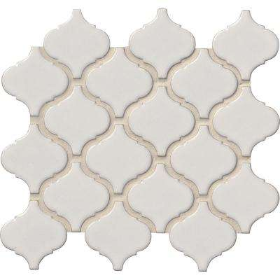 Bianco Arabesque 9.84 in. x 10.63 in. x 6mm Glazed Ceramic Mesh-Mounted Mosaic Tile (0.73 sq. ft.)