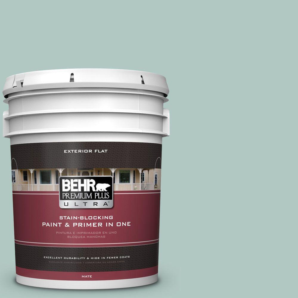 BEHR Premium Plus Ultra 5-gal. #480E-3 Marina Isle Flat Exterior Paint
