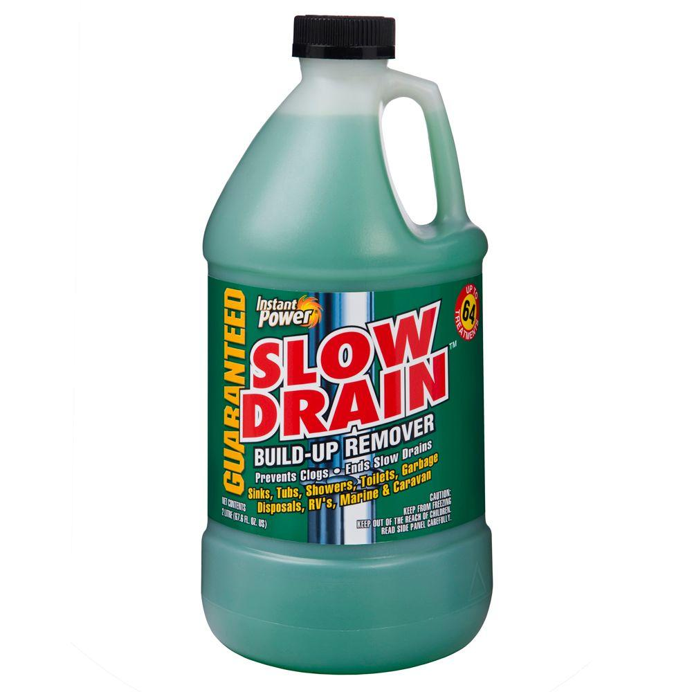Instant Power 67.6 oz. Slow Drain Build-Up Remover-1907 - The Home Depot