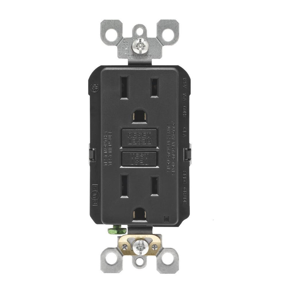 15 Amp SmartlockPro GFCI Outlet, Black