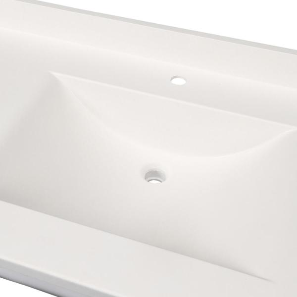Swan Contour 43 In W X 22 In D Solid Surface Vanity Top With Sink In White Cv2243 010 The Home Depot