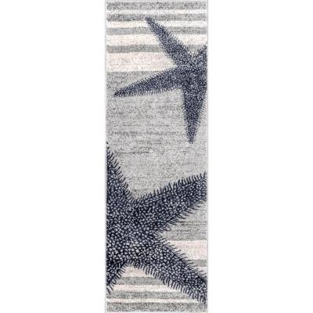 Thomas Paul Starfish Gray 3 ft. x 8 ft. Runner