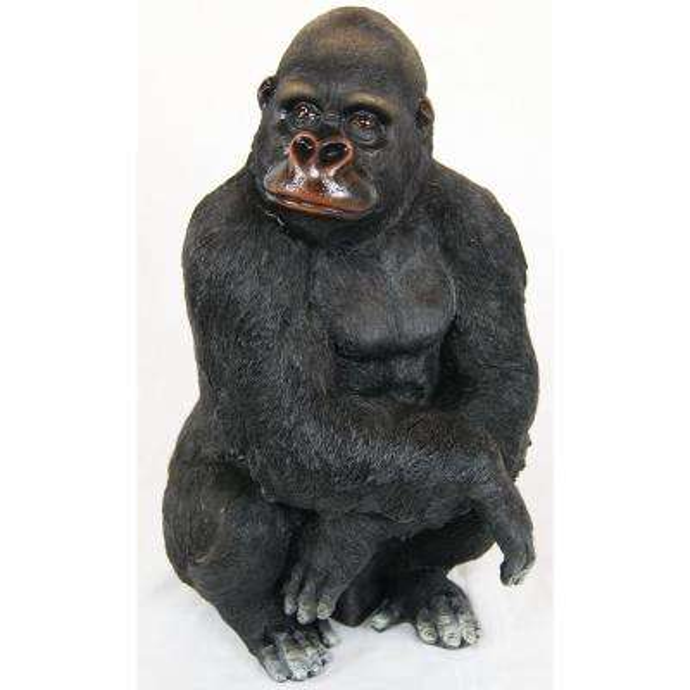 14 in. Gorilla Statue