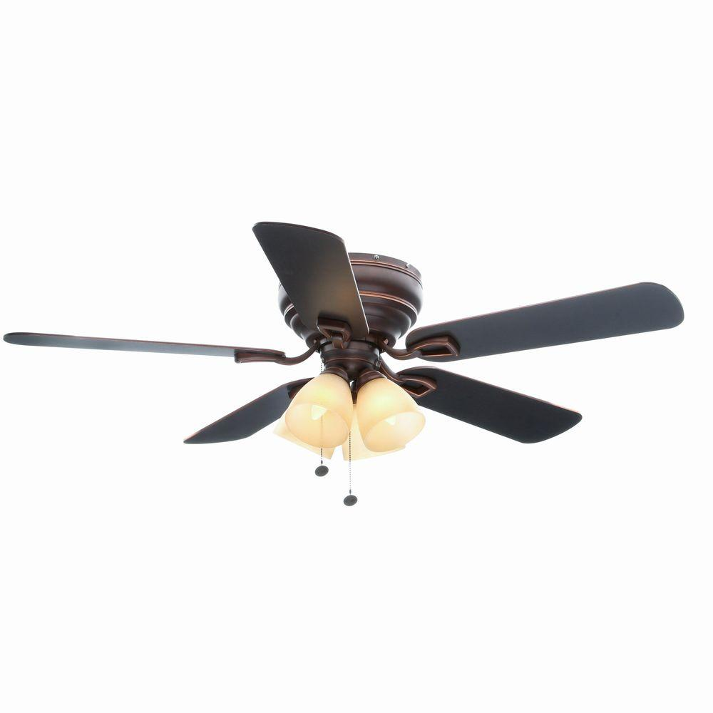 Hampton Bay Hayward 52 in. Mediterranean Bronze Ceiling Fan