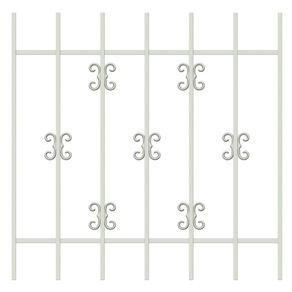Unique Home Designs Moorish Lace 36 in. x 36 in. Almond 7-Bar Window Guard-DISCONTINUED
