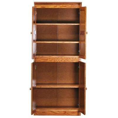 Multi-Use Storage Pantry in Dry Oak