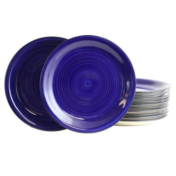 Gibson Home Color Vibes 105 In Cobalt Dinner Plates Set Of 12