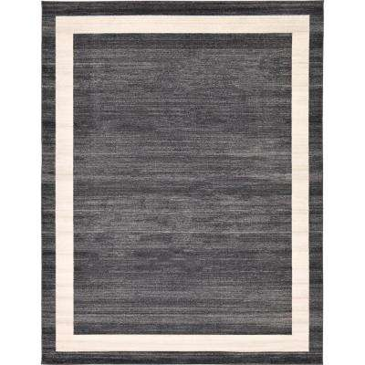 Del Mar Black 10 ft. x 13 ft. Area Rug
