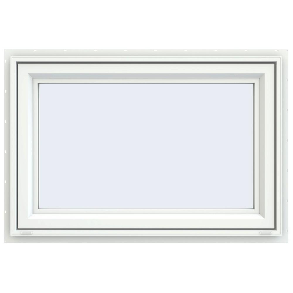 JELD-WEN 35.5 in. x 29.5 in. V-4500 Series Awning Vinyl Window - White