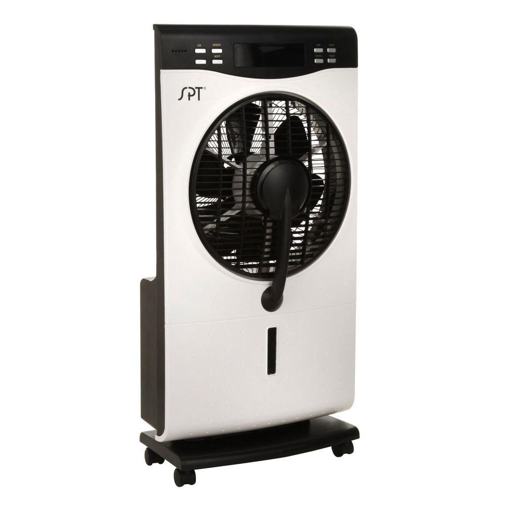 SPT 12 in. Indoor Misting Portable Fan