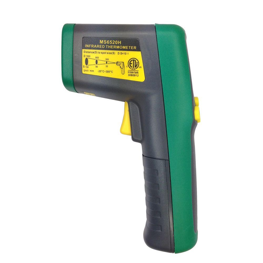 Commercial Electric AAA Alkaline Infrared Thermometer The Commercial Electric 10:1 Infrared Thermometer features solid structure and rubber shell. Data hold function could save the measurement data for review. The Infrared Thermometer could measure temperature between -4F to 572F.