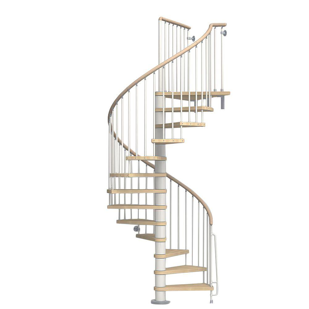 Charmant White Spiral Staircase Kit