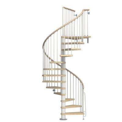 Phoenix 63 in. White Spiral Staircase Kit
