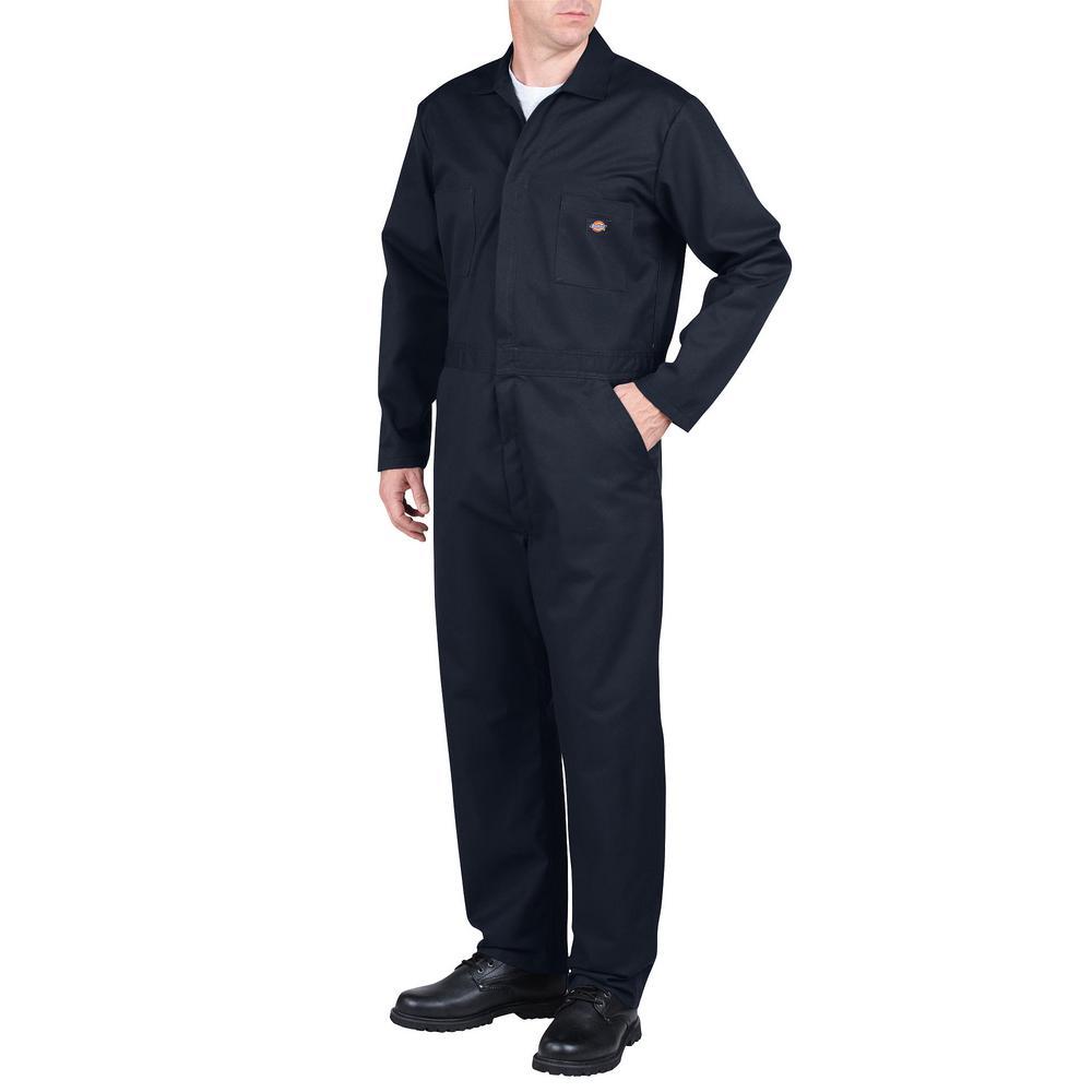 dickies men s medium dark navy basic blended coveralls 48611dn the