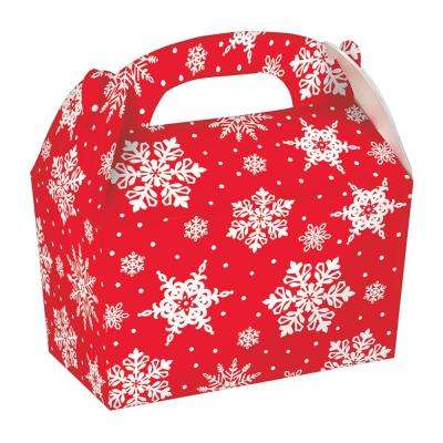 6.25 in. x 6 in. x 3.75 in. Christmas Snowflake Paper Gable Box (5-Count 3-Pack)
