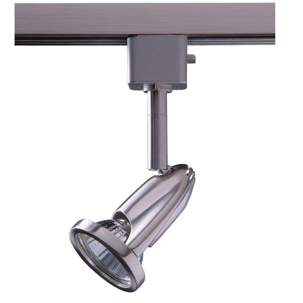 Series 8 Line-Voltage GU-10 Satin Nickel Track Lighting Fixture