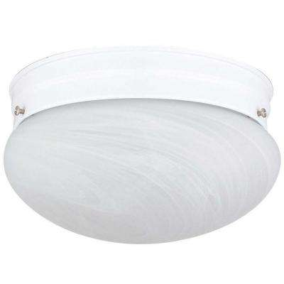 Furby 2-Light White Flush Mount