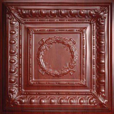 Empire Faux Wood-Cherry 2 ft. x 2 ft. Lay-in or Glue-up Ceiling Panel (Case of 6)