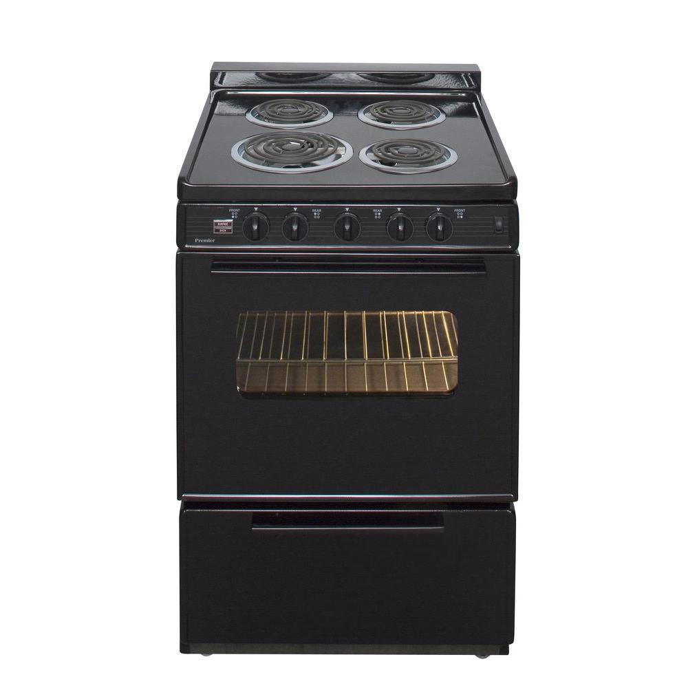 2205f18762c Premier 24 in. 2.97 cu. ft. Electric Range in Black-ECK3X0BP - The ...