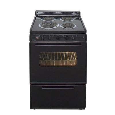 24 in. 2.97 cu. ft. Electric Range in Black