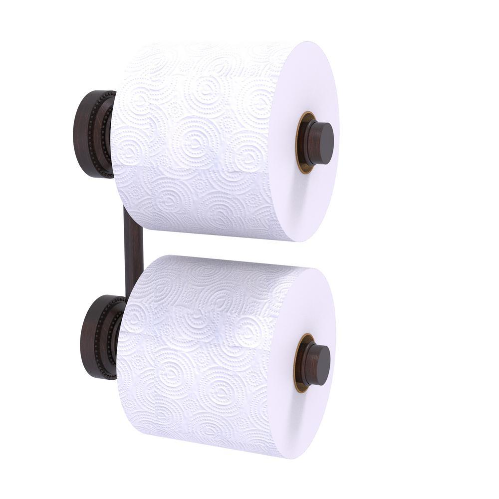 Dottingham 2 Roll Reserve Roll Toilet Paper Holder in Venetian Bronze