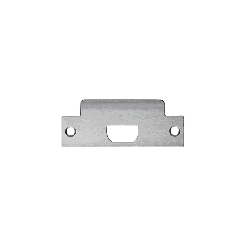 Satin Chrome Commercial Strike Plate