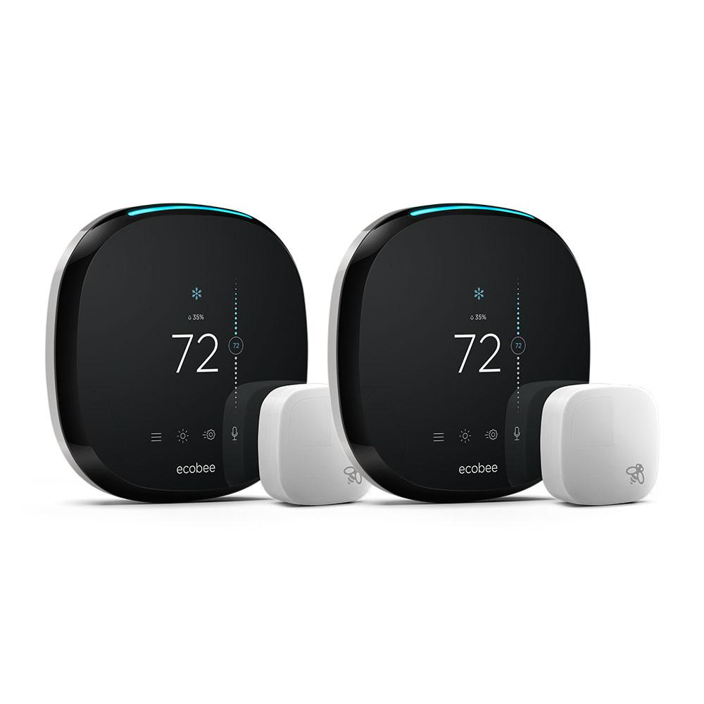ecobee 4, 7-Day Smart Thermostat Value Bundle
