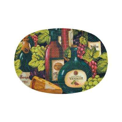Chardonnay Wine and Cheese 2 ft. x 3 ft. Braided Rug