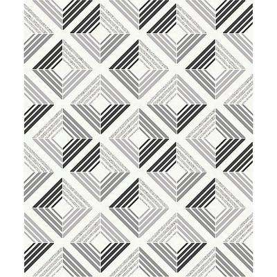 8 in. x 10 in. Echo Charcoal Geometric Sample