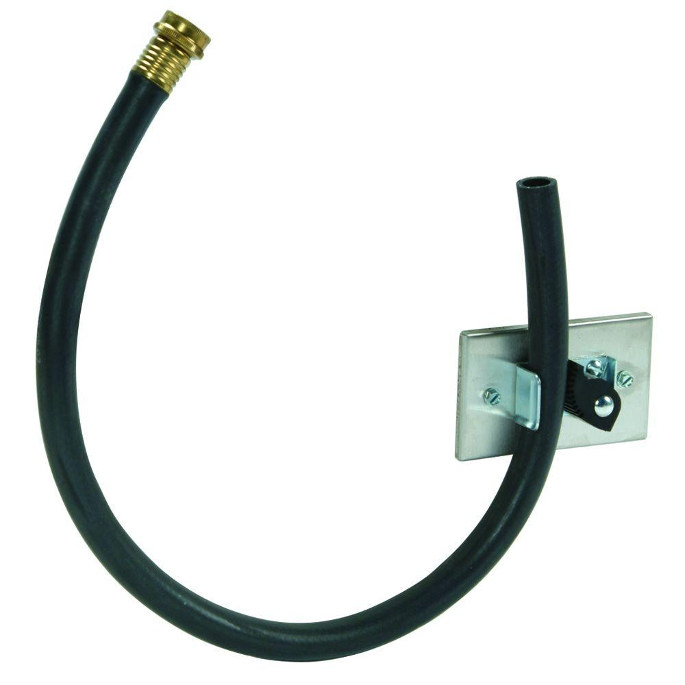 MUSTEE 31 in. Hose and Holder Accessory in Stainless Steel