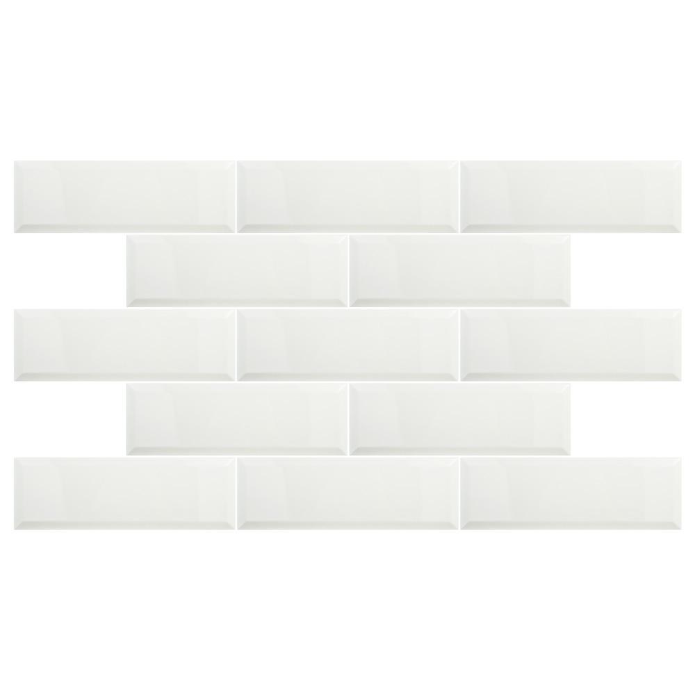 Santorini Loft Blanco 4 in. x 11-7/8 in. Ceramic Subway Wall Tile (12.17 sq. ft. / case)