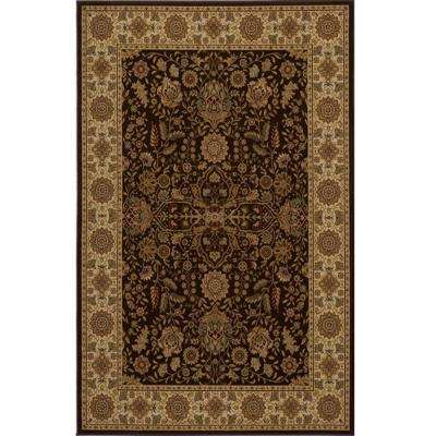 Lovely Brown 3 ft. 11 in. x 5 ft. 7 in. Area Rug