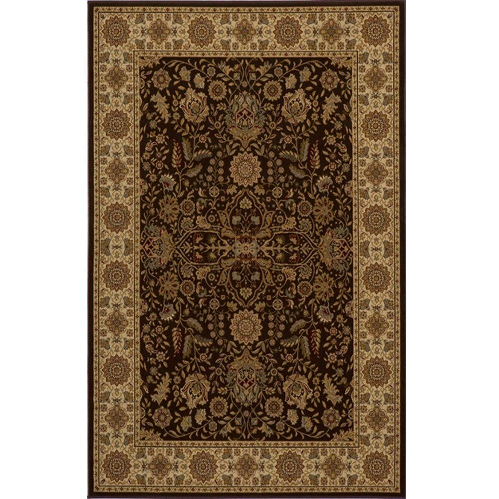 Lovely Brown 7 ft. 10 in. x 10 ft. 10 in.