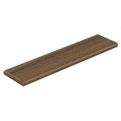 HS Walnut Plateau 94 in. Length x 12-1/8 in. Deep x 1-11/16 in. Height Laminate Left Return to Cover Stairs 1 in. Thick