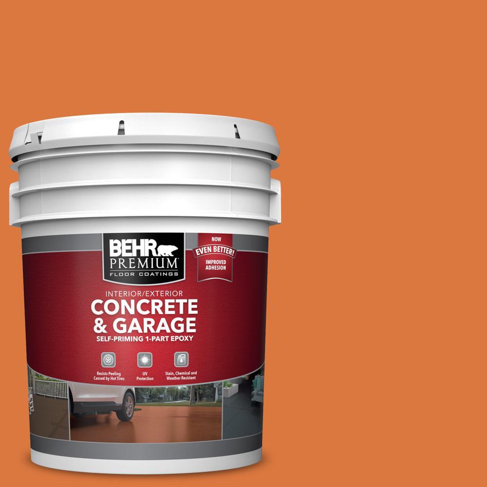 BEHR PREMIUM 5 gal. #P210-7 Japanese Koi Self-Priming 1-Part Epoxy Satin Interior/Exterior Concrete and Garage Floor Paint