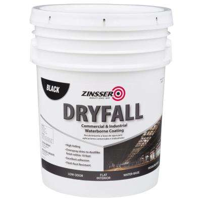 5 gal. Waterbourne Dry Fall Black Coating