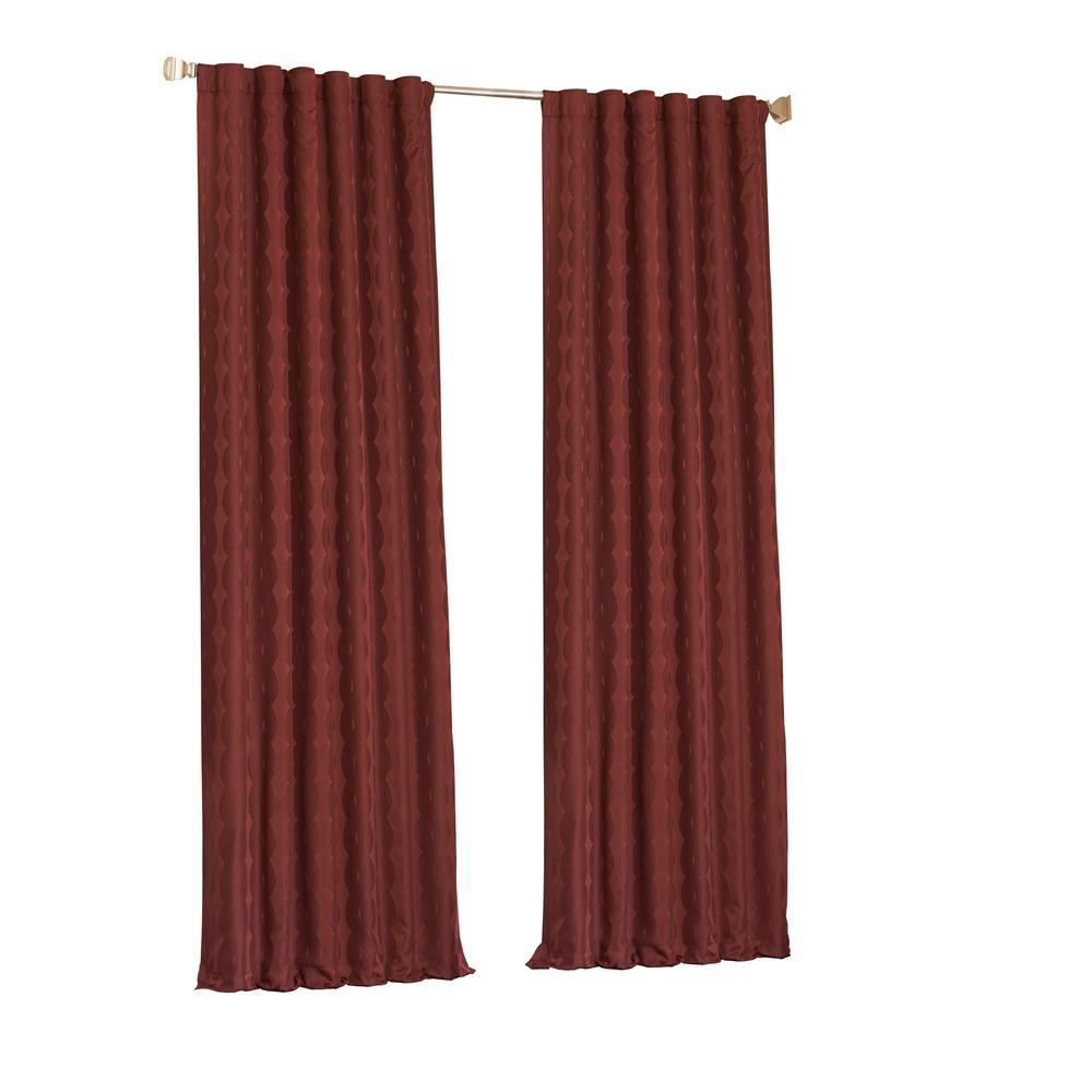 Adalyn Blackout Window Curtain Panel in Burgundy - 52 in. W x 84 in. L