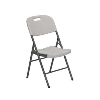 White Plastic Seat Metal Frame Outdoor Safe Folding Chair (Set of 4)