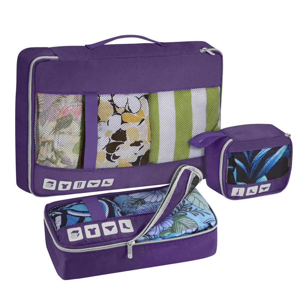 Alamosa 3-Piece Packing cube Set, Purple