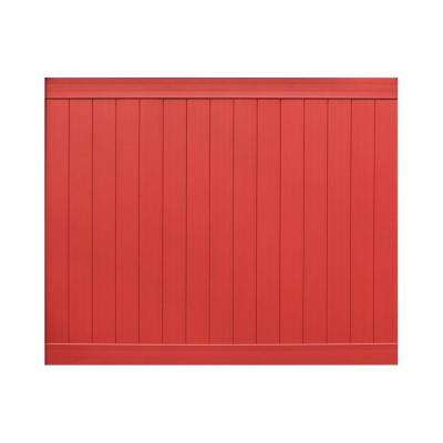 Pro Series 6 ft. H x 8 ft. W Barn Red Vinyl Anaheim Privacy Fence Panel - Unassembled
