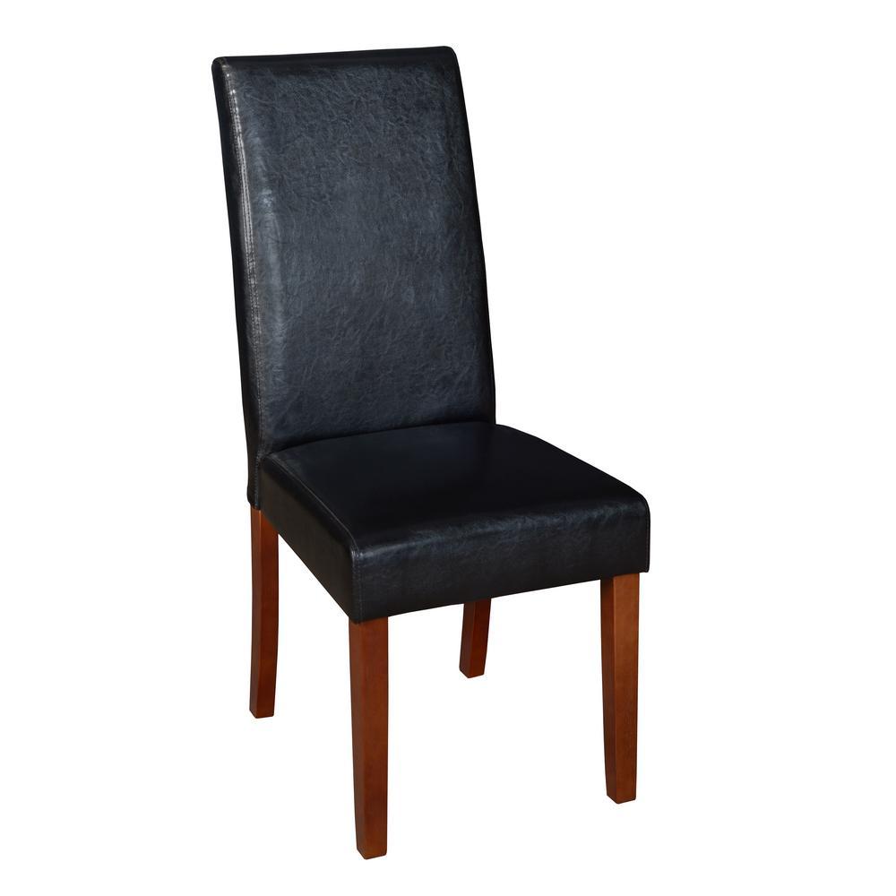 Tyler Cherry Plush Vinyl Dining Room Chair
