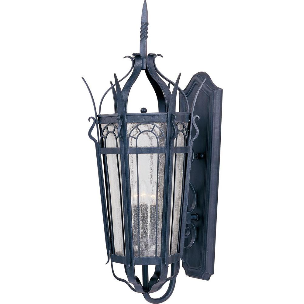 Maxim Lighting Cathedral 3-Light Country Forge Outdoor Wall Mount