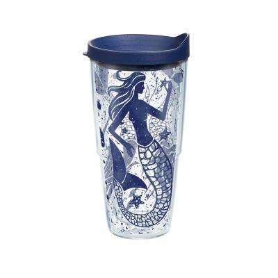 Mermaid Collage 24 oz. Double Walled Insulated Tumbler with Travel Lid