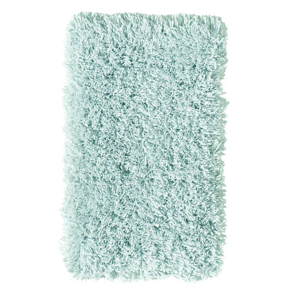 Home Decorators Collection Ultimate Shag Ocean Blue 2 ft. x 3 ft. Accent Rug