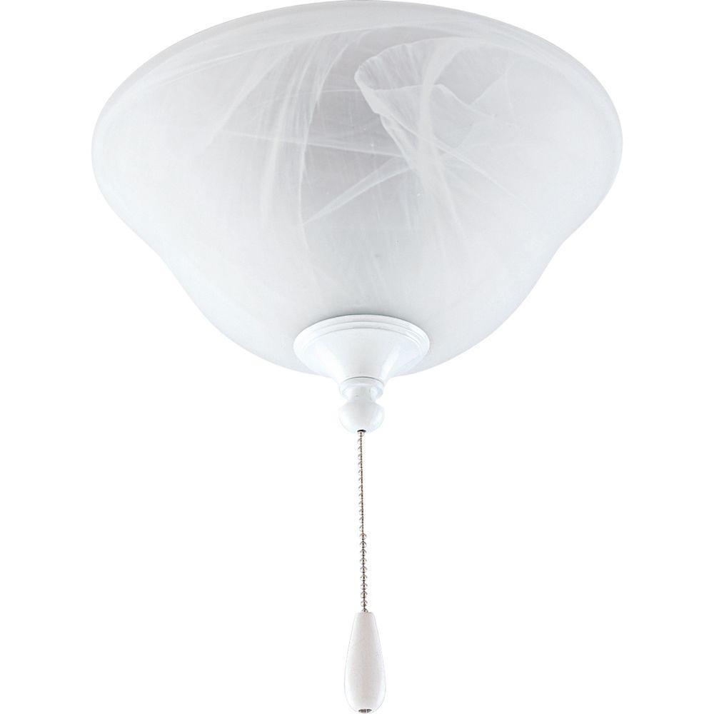 Progress Lighting AirPro 3-Light White Ceiling Fan Light