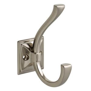 Ruavista 4-1/3 in. Satin Nickel Coat and Hat Hook