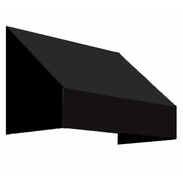 10.38 ft. Wide New Yorker Window/Entry Awning (31 in. H x 24 in. D) Black